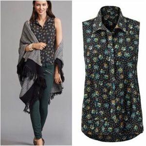 CAbi Whimsy Sleeveless Blouse #3440 Size Medium